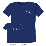 T-Shirt Old Sea Dog in cotone blu - Varie taglie
