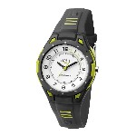 Orologio analogico ActiveLight - Bianco / antracite / lime - Ø 3,4 cm