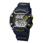 Orologio digitale Wire Guard - Blu/lime - Ø 5 cm