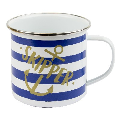 NA 5881 - Tazza mug marinara in latta smaltata - Skipper