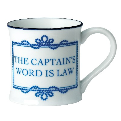 NA 6287 - Tazza The Captain's word is law in porcellana - Ø 8 cm